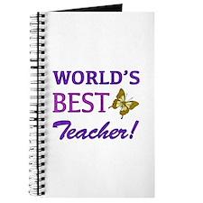 World's Best Teacher (Butterfly) Journal