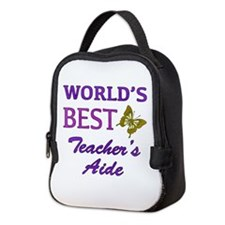 World's Best Teacher's Aide (Butterfly) Neoprene L