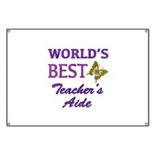 World's Best Teacher's Aide (Butterfly) Banner
