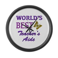 World's Best Teacher's Aide (Butterfly) Large Wall