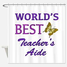 World's Best Teacher's Aide (Butterfly) Shower Cur