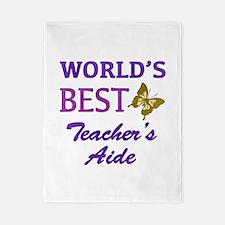 World's Best Teacher's Aide (Butterfly) Twin Duvet