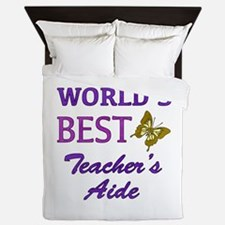 World's Best Teacher's Aide (Butterfly) Queen Duve