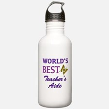 World's Best Teacher's Aide (Butterfly) Water Bottle