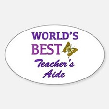 World's Best Teacher's Aide (Butterfly) Decal