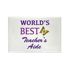 World's Best Teacher's Aide (Butterfly) Rectangle
