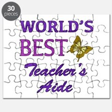 World's Best Teacher's Aide (Butterfly) Puzzle