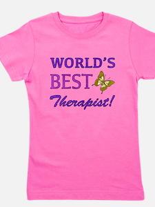 World's Best Therapist (Butterfly) Girl's Tee