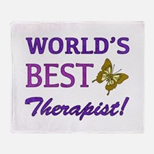 World's Best Therapist (Butterfly) Throw Blanket
