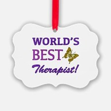 World's Best Therapist (Butterfly) Ornament