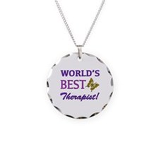 World's Best Therapist (Butterfly) Necklace