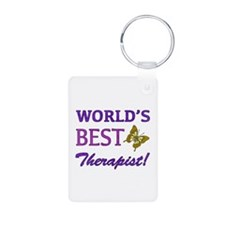 World's Best Therapist (Butterfly) Keychains