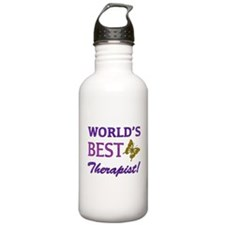 World's Best Therapist (Butterfly) Water Bottle