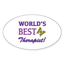World's Best Therapist (Butterfly) Decal