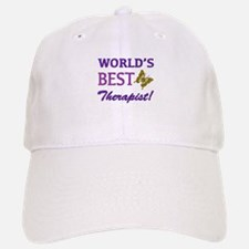 World's Best Therapist (Butterfly) Baseball Baseball Cap