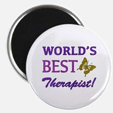World's Best Therapist (Butterfly) Magnet