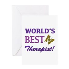 World's Best Therapist (Butterfly) Greeting Card