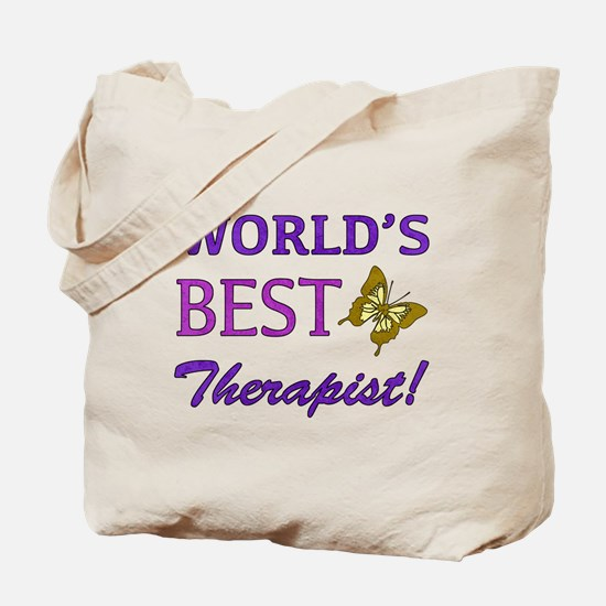 World's Best Therapist (Butterfly) Tote Bag