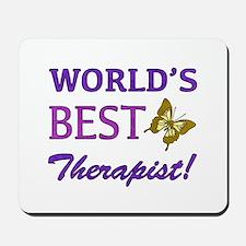 World's Best Therapist (Butterfly) Mousepad