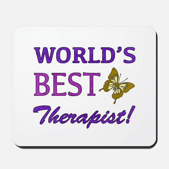 World's Best Therapist (Butterfly) Mousepad
