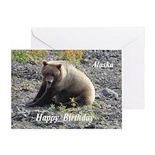 Grizzly Bear Alaska Greeting Cards