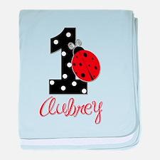 1 Ladybug AUBREY - Custom baby blanket