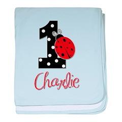1 Ladybug CHARLIE - Custom baby blanket
