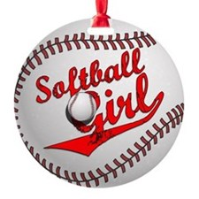 Softball Girl Ornament
