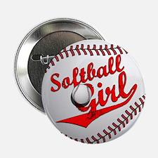 """Softball Girl 2.25"""" Button"""