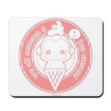 Cute Ice Cream Monkey Mousepad