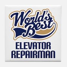 Elevator Repairman (Worlds Best) Tile Coaster
