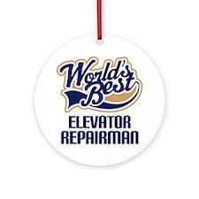 Elevator Repairman (Worlds Best) Ornament (Round)
