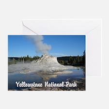 Customizable Yellowstone Geyser Photograph Greetin