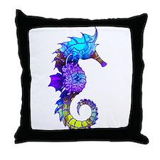 Sigmund Seahorse Throw Pillow