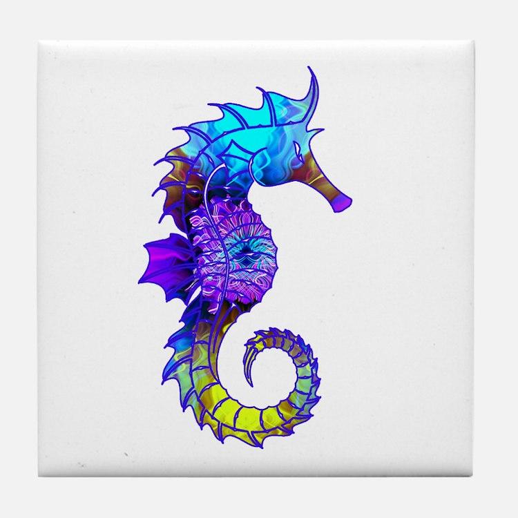 Sigmund Seahorse Tile Coaster