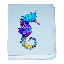 Sigmund Seahorse baby blanket