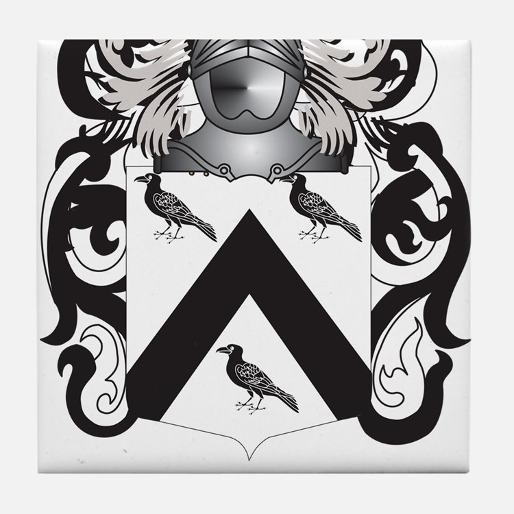 Trevino Family Crest (Coat of Arms) Tile Coaster