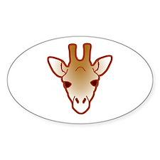 giraffe head 04 Decal