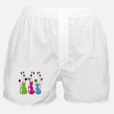 Whimsical Cats and Flowers Duvet Boxer Shorts