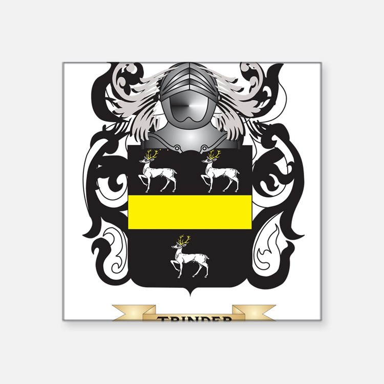 Trinder Family Crest (Coat of Arms) Sticker