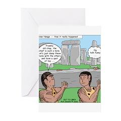 Cavemen at Stonehenge Greeting Cards (Pk of 10)