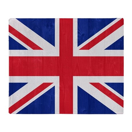 United Kingdom flag Throw Blanket