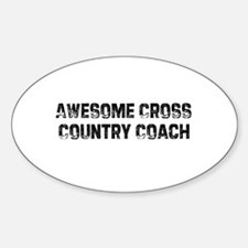 Awesome Cross Country Coach Oval Decal