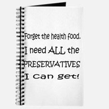 Forget Health Food Journal