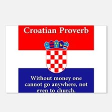 Without Money - Croatian Proverb Postcards (Packag