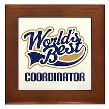 Coordinator (Worlds Best) Framed Tile
