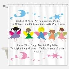 angel of God Twin WHITE Shower Curtain