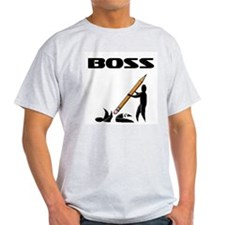 Office Worker Ash Grey T-Shirt