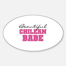 Chilean Babe Oval Decal
