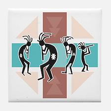 Kokopelli Design Tile Coaster